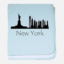 New York City Cityscape baby blanket