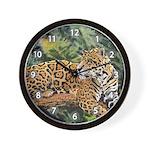 Jaguar on Branch Wall Clock