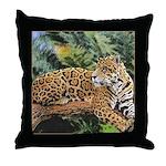 Jaguar on Branch Throw Pillow