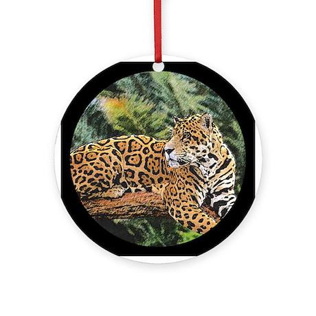 Jaguar on Branch Ornament (Round)