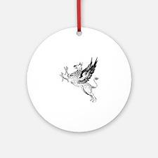 Griffin silhouette Round Ornament