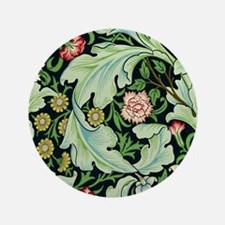 """Acanthus and Flowers by William Morris 3.5"""" Button"""