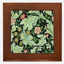 Acanthus and Flowers by William Morris Framed Tile