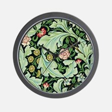 Acanthus and Flowers by William Morris Wall Clock