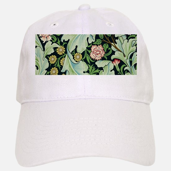 Acanthus and Flowers by William Morris Baseball Ca
