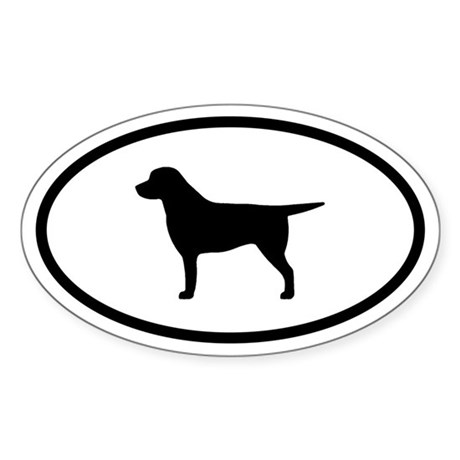 Labrador Oval Sticker