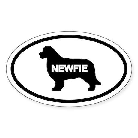 Newfie Oval Sticker