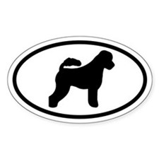 Portuguese Water Dog Oval Decal