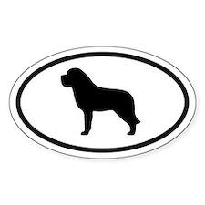 Saint Bernard Oval Stickers