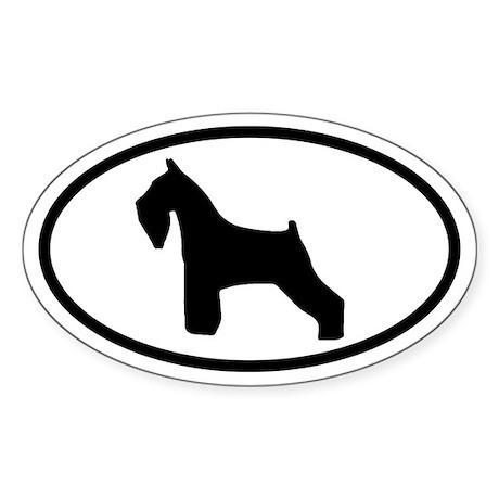 Schnauzer Oval Sticker