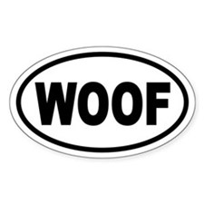 Basic Woof Oval Stickers