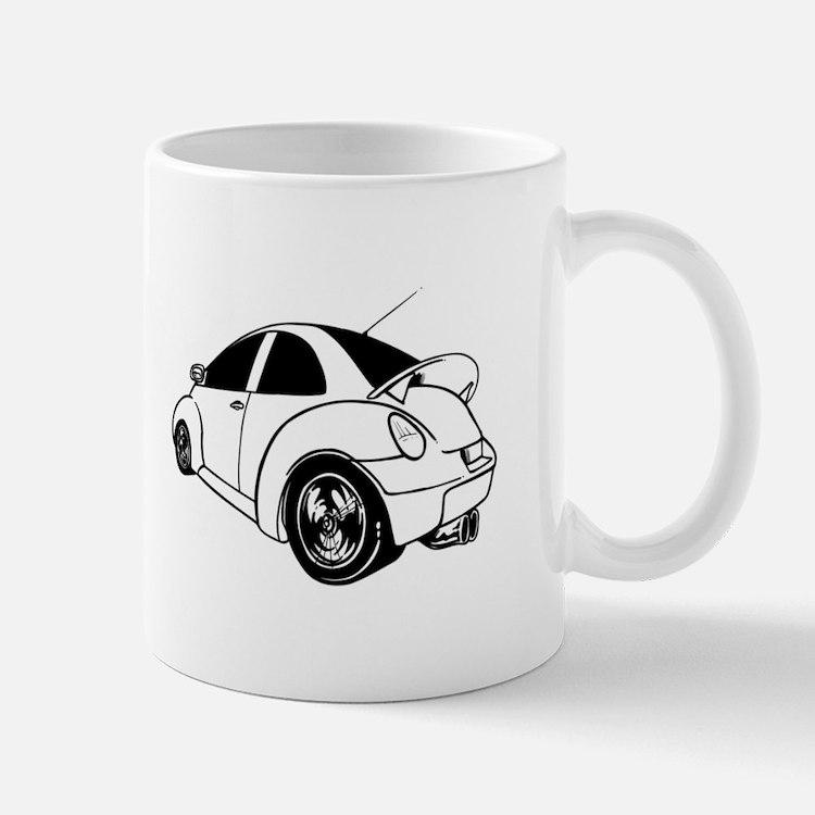Egg shaped car Mugs