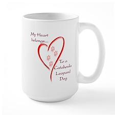 Catahoula Heart Belongs Mug