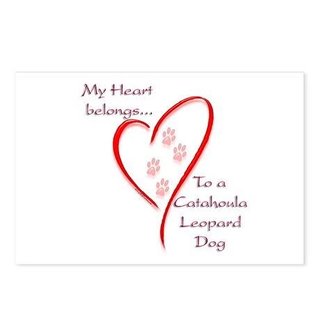 Catahoula Heart Belongs Postcards (Package of 8)