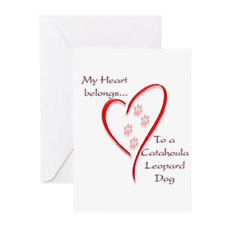 Catahoula Heart Belongs Greeting Cards (Pk of 20)