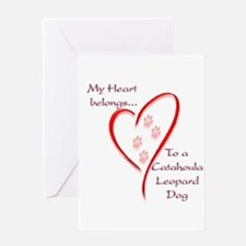 Catahoula Heart Belongs Greeting Card