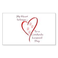 Catahoula Heart Belongs Rectangle Decal