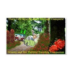 Granny and Her Traveling Companion Wall Decal
