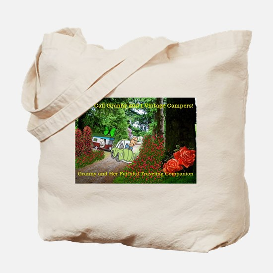 Granny And Her Traveling Companion Tote Bag