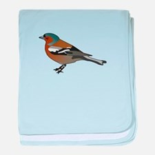 Male chaffinch baby blanket