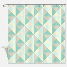 Teal And Beige Shower Curtains