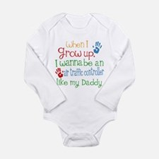 Air Traffic Controller Long Sleeve Infant Bodysuit