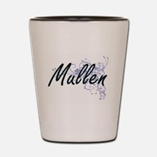 Mullen surname artistic design with Flo Shot Glass