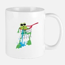 Frog Stuck in Net Mugs