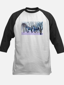 Snow Horses Baseball Jersey