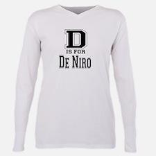 D is for De Niro Plus Size Long Sleeve Tee