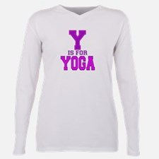 Y is for Yoga Plus Size Long Sleeve Tee