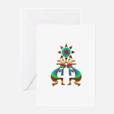 Two Kokopelli #1 Greeting Cards (Pk of 20)