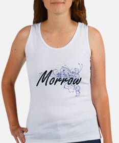 Morrow surname artistic design with Flowe Tank Top