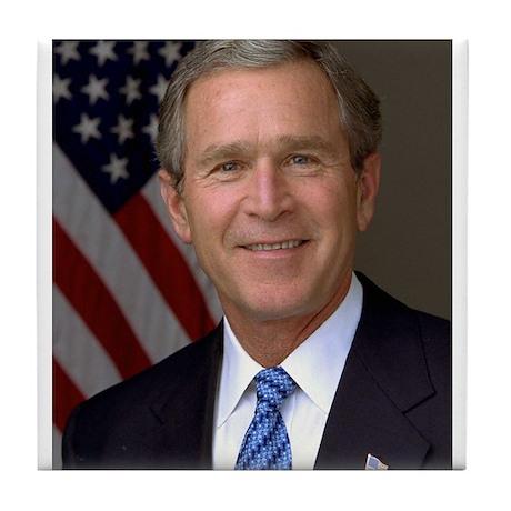 President George W. Bush Tile Coaster