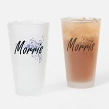 Morris surname artistic design with Drinking Glass