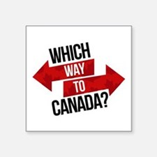 Which Way To Canada? Sticker
