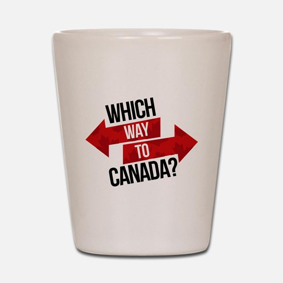 Which Way To Canada? Shot Glass