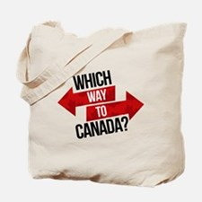 Which Way To Canada? Tote Bag