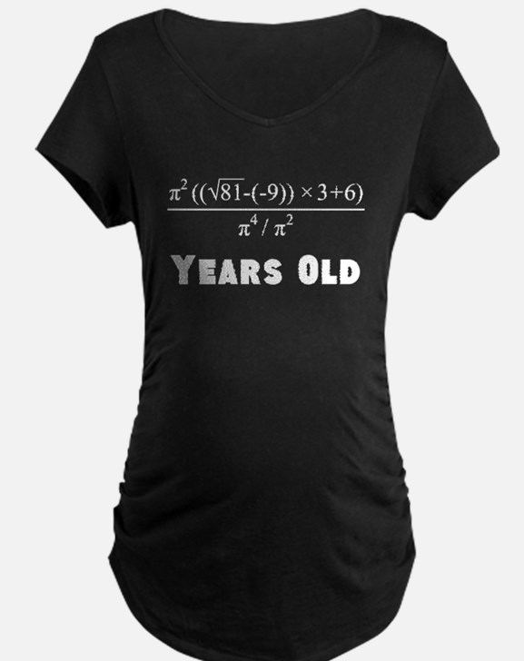 Algebra Equation 60th Birthday Maternity T-Shirt
