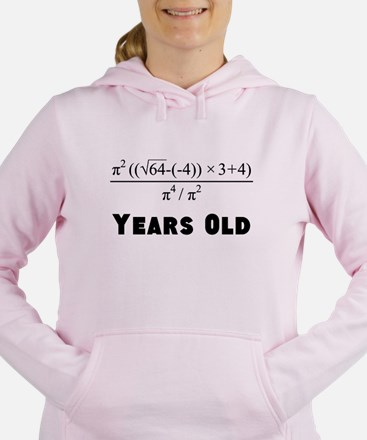 Algebra Equation 40th Birthday Women's Hooded Swea