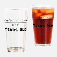 Algebra Equation 30th Birthday Drinking Glass
