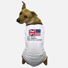 Half British Completely Awesome Dog T-Shirt