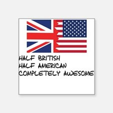 Half British Completely Awesome Sticker