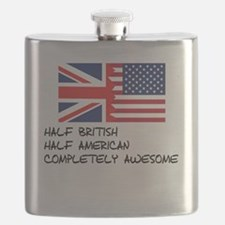 Half British Completely Awesome Flask