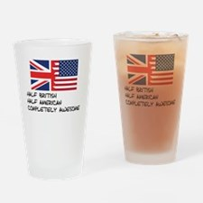 Half British Completely Awesome Drinking Glass