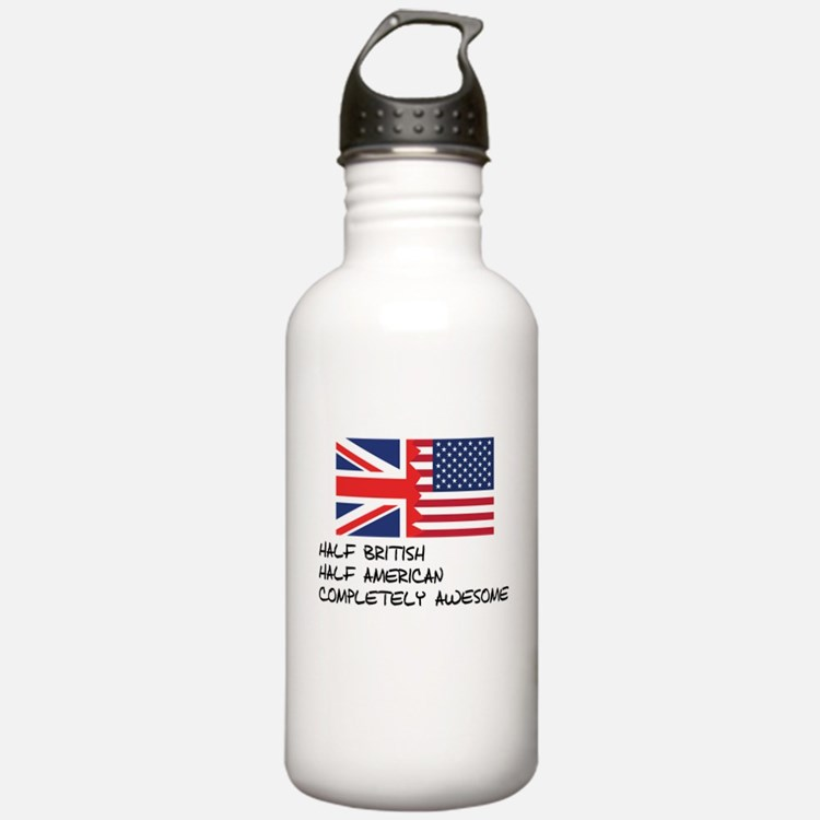 Half British Completely Awesome Water Bottle