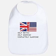 Half British Completely Awesome Bib