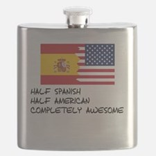 Half Spanish Completely Awesome Flask