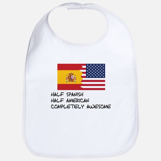 Half Spanish Completely Awesome Bib