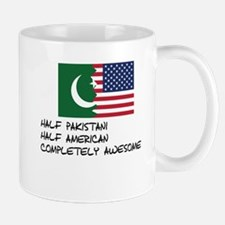 Half Pakistani Completely Awesome Mugs